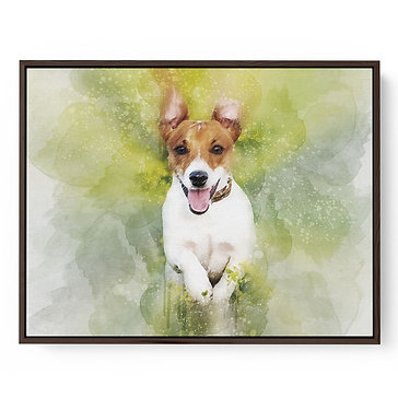 Framed Canvas Pet Portrait