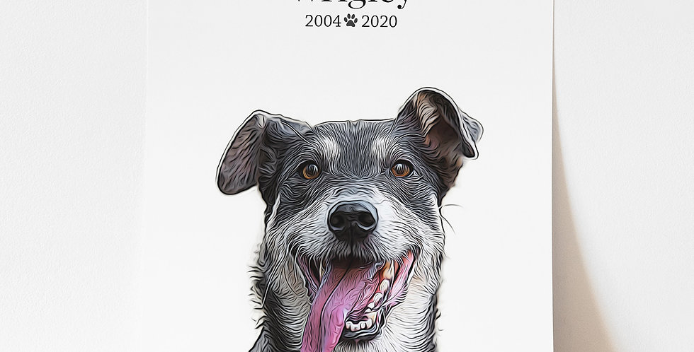 Unframed Pet Portrait