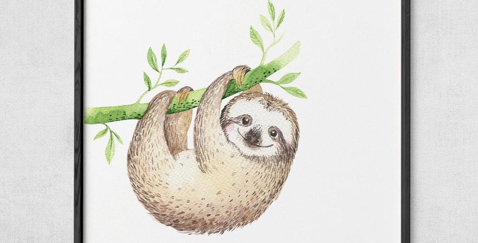 Don't Hurry Sloth Print