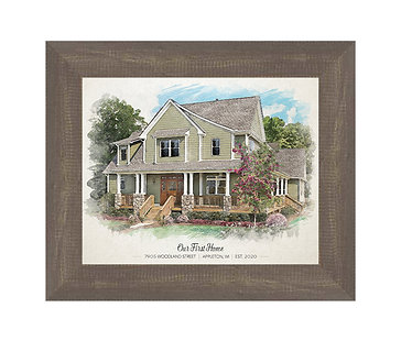 Rustic Framed House Portrait