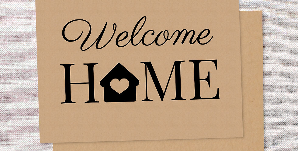 Welcome Home folded cards