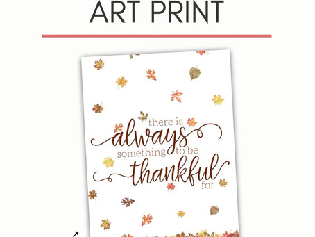 Free Thanksgiving printable art