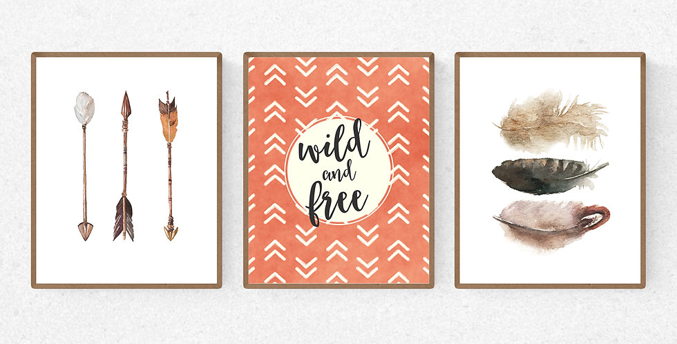 Wild and Free Watercolor Prints