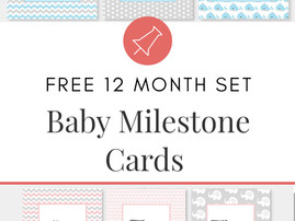 Baby Milestone Cards Freebie