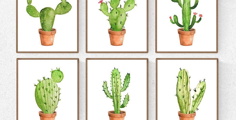 Watercolor Cactus Prints