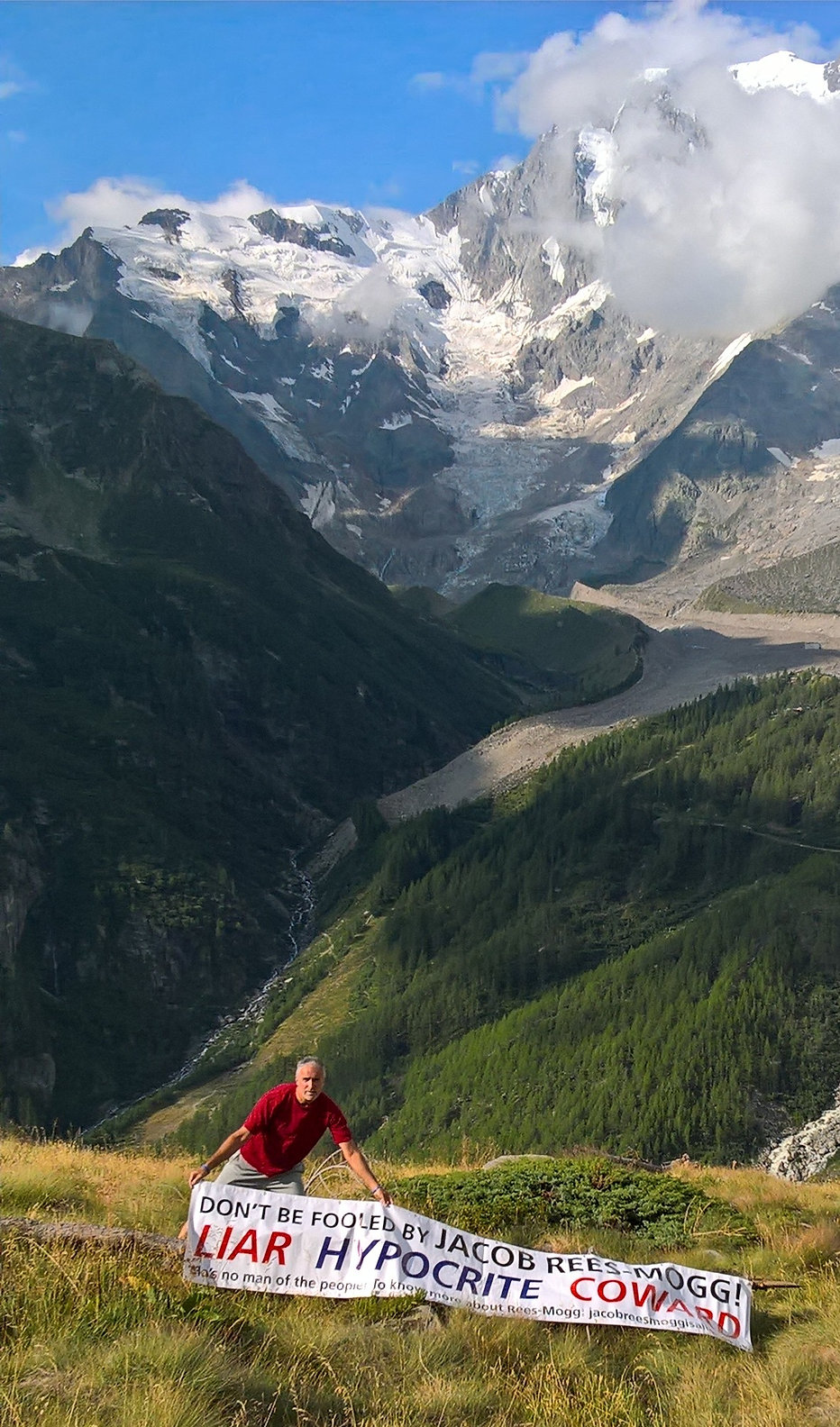 The east face of Monte Rosa, Macugnaga, Italy