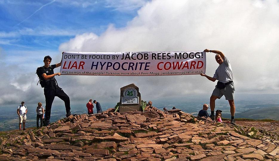 Summit of Pen-y-Fan, 886m, Brecon Beacons, Powys, Wales