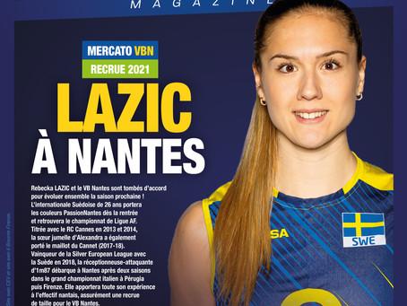 Rebecka LAZIC arrive à Nantes !