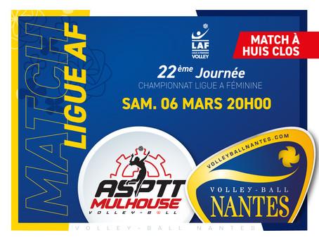 Le VB Nantes part défier le leader, l'ASPTT Mulhouse !