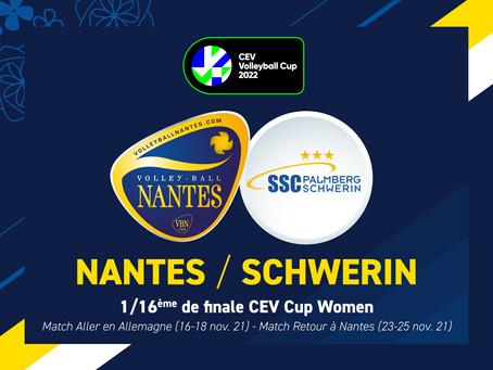 SSC Palmberg Schwerin au premier tour de la CEV Cup !