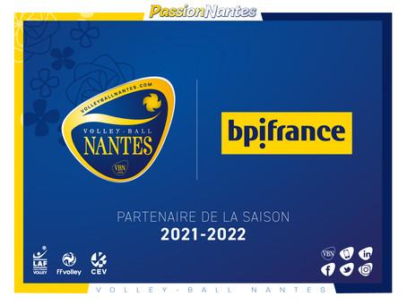 Le VB Nantes rejoint Bpifrance pour la saison 2021-2022 !