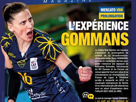 Sanja GOMMANS prolonge l'expérience au VB Nantes !