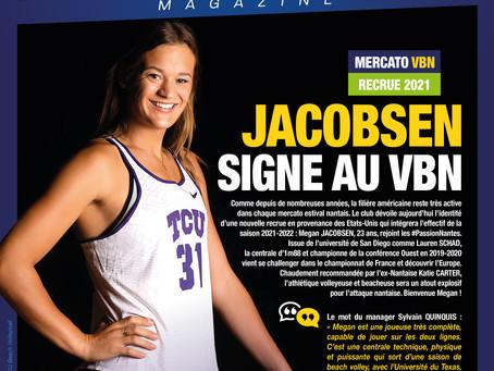 Megan JACOBSEN, nouvelle recrue américaine au VBN !