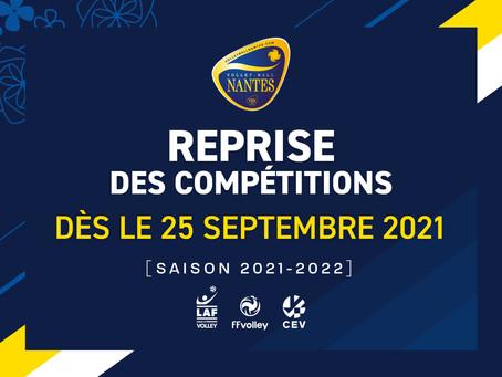 Dates de reprise des compétitions 2021-2022 dévoilées !