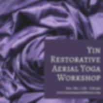 Yin Restorative Aerial Yoga Workshop _ 1