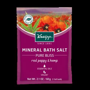 Red Poppy and Hemp Bath Salt Satchet