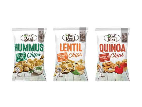 LENTIL, HUMMUS, & QUINOA CHIPS 45G