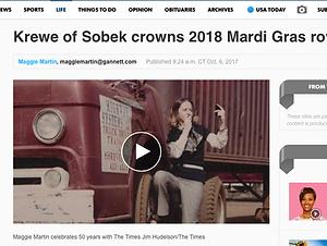 Thumbnail of Shrevport Times Article on Krewe of Sobek