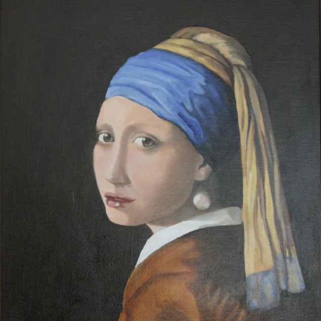 132 the other Girl with Pearl Earring af