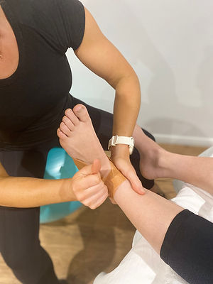 Emily Gray Physio treating patient