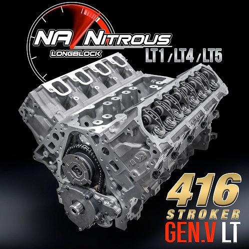416 STROKER LT1 NA/Nitrous Longblock (Gen.V LT)