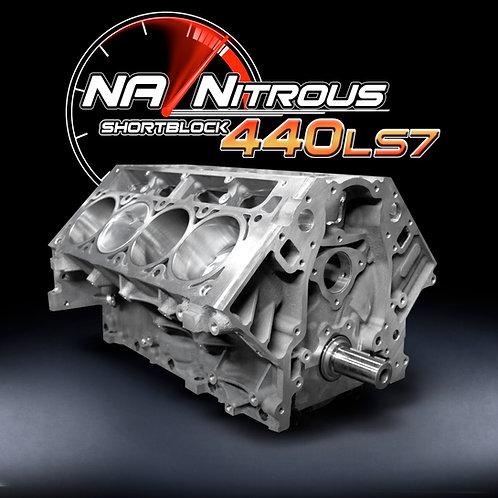 NA/Nitrous LS7 440 Stroker Shortblock