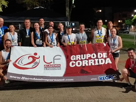 Grupo de Corrida LF Academia e Personal conquista 3 pódios na Geral e 19 por categoria na Rústica de