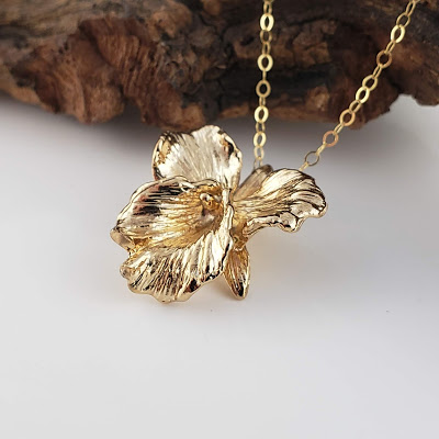 Gold Plated Sterling Silver Cattleya