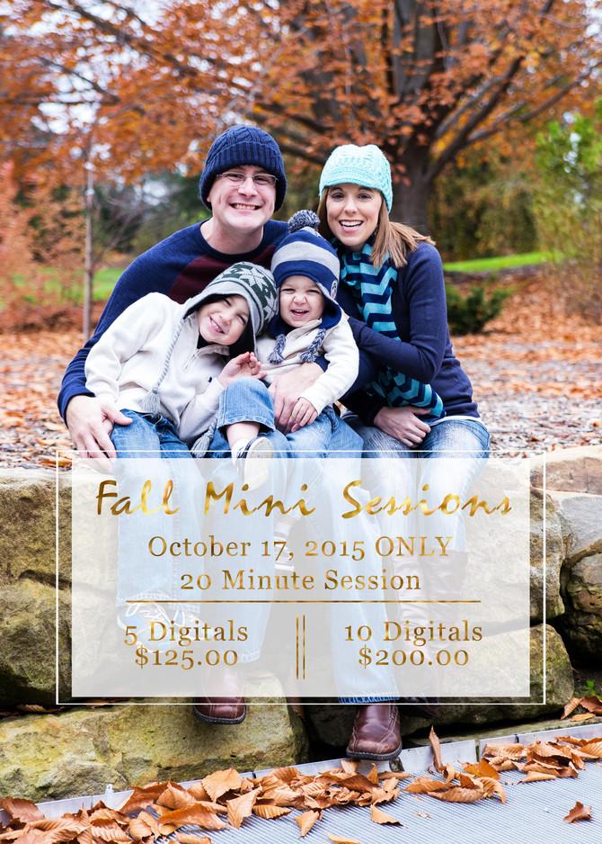 Fall Mini Sessions!