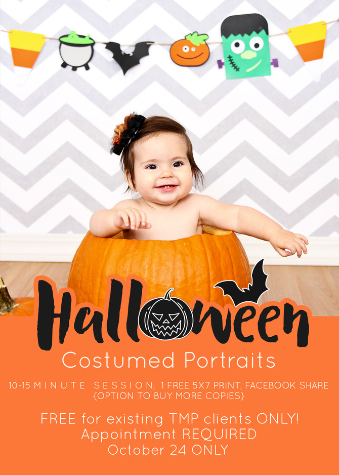 HALLOWEEN costumed portraits-- a free event!