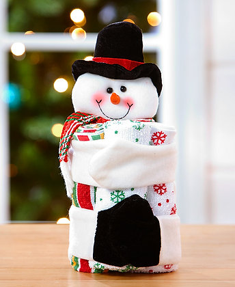 4-Pc. Holiday Gift Towel Set - Snowman