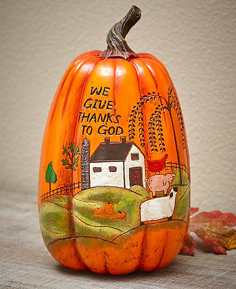 Give Thanks Harvest Country Pumpkin- To God