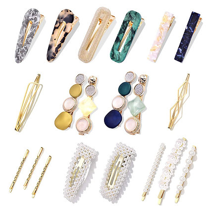 20 Pc Pearl Hair Clips Set​
