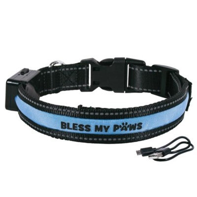 Bless My Paws LED Dog Collar - Blue