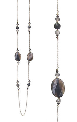 Genuine Stone Long Necklace