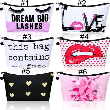 Makeup Bag Toiletry Pouch Waterproof Cosmetic Bag- Lips