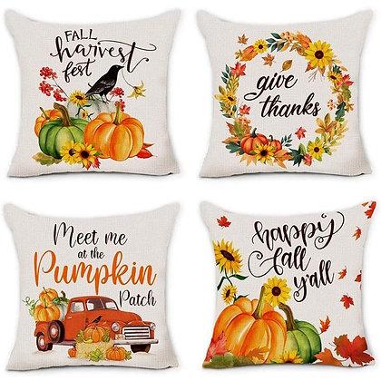 Fall Pumpkin Pillow Cover