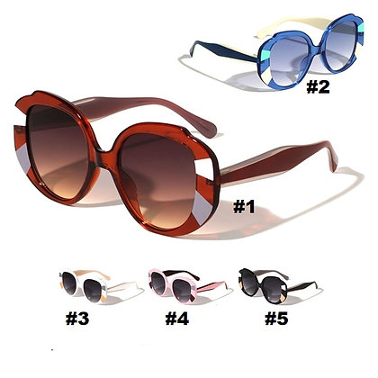 BUTTERFLY DARK TINTED FASHION SUNGLASSES