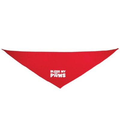 Bless My Paws Dog Scarf  - Red