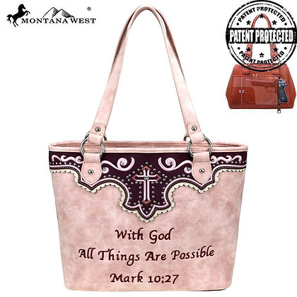 Montana West Spiritual Collection Concealed Carry Tote Purse-Pk.