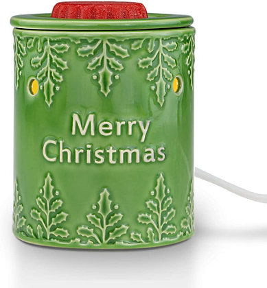 Merry Christmas GreenTabletop Warmer