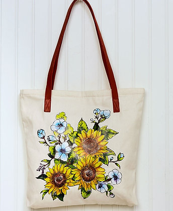 Sunflowers Printed Tote Bag