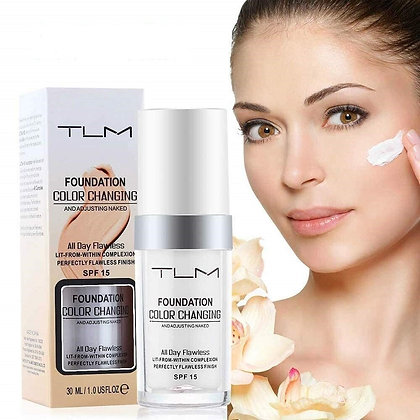 TLM Concealer Cover Flawless Color Changing Foundation Makeup