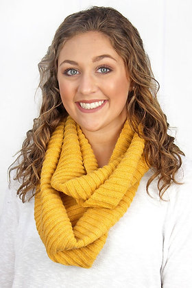   THE CHILL COWL NECK INFINITY SCARF-MUSTARD