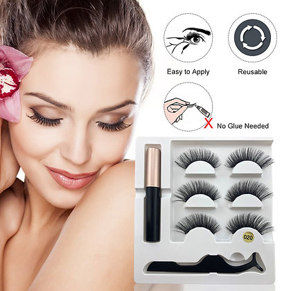 Magnetic Eyelashes with Magnetic Eyeliner Kit