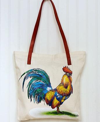 Rooster Printed Tote Bag