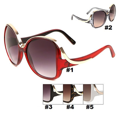 METAL RIBBON BUTTERFLY SUNGLASSES