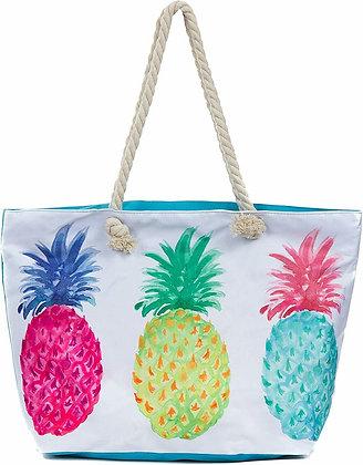 Large Beach Tote Bag - Pineapple