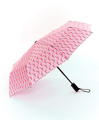 Novelty Printed Umbrella - Flamingos