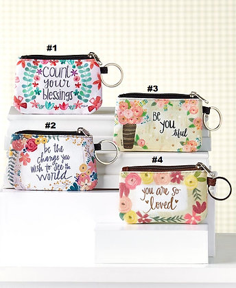 Inspirational Zipper ID Wallets